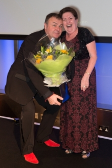 Paul Ross with Shirley Ryan of Mirari which celebrates thier 10th anniversary this year