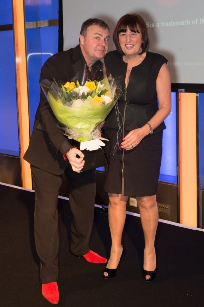 Paul Ross with Ros Broady of Pretty Things (Buckhurst Hill) which celebrates their 30th anniversary this year