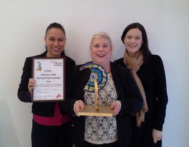 Janiize and Lisa (joint shop managers) with Claire-Marie, General Manager of Nicola Jane
